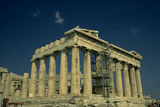 The Parthenon, southeastern corner. -