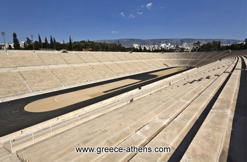 Panathenian Stadium - Photo of Panathenaic Stadium, also called Kallimarmaro