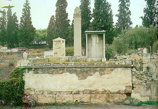 Archaeological site of Kerameikos - Kerameikos was named after the community of the potters (kerameis) who occupied the whole area along the banks of river Eridanos. The walls of Athens, which were constructed in the 5th century B.C. by Themistocles, divided the area into two sections, the