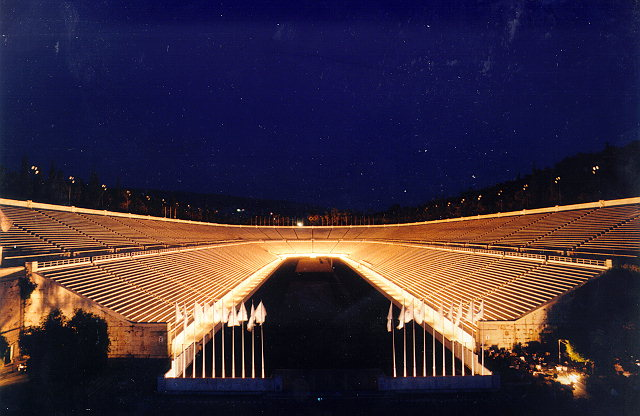 PANATHENAIC STADIUM - It was originally a natural hollow part of the ground between the two hills of Agra and Ardettos, over Ilissos river. It was transformed into a stadium by Lykourgos in 330-329 BC for the athletic competitions of the Great Panathinaea Festivities.