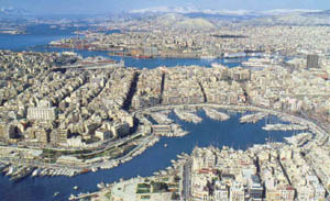 Piraeus port and Marina Zeas -