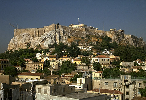 The North and East Slopes of the Acropolis. View from the northeast. - View from the northeast.