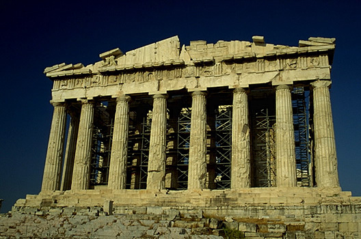 The Parthenon, western facade. -